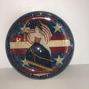 Lady Liberty Ceramics Plate